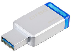 Unidad Flash USB 3.1 Kingston DataTraveler 50 con Elegante y Moderno Diseño de 64GB color Azul