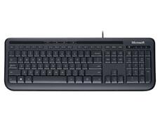 Teclado Microsoft 600 con teclas silenciosas y a prueba de líquidos, USB, Color Negro