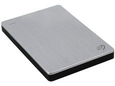 Disco Duro Portátil Seagate Backup Plus Slim de 2 TB, USB 3.0. Color Plata