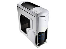 Gabinete Aerocool BattleHawk, ATX (sin fuente de poder). Color Blanco.