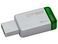 Unidad Flash USB 3.1 Kingston DataTraveler 50 con Elegante y Moderno Diseño de 16GB color verde.