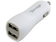 Cargador para Auto Vorago 103 con 2 Puertos USB. Color Blanco.