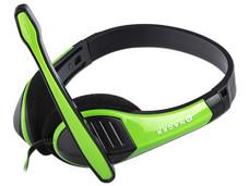 Audífonos tipo diadema NACEB NA-589RO con micrófono. Color Verde.