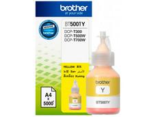 Botella de Tinta Brother, color Amarillo, Modelo: BT-5001Y, Alto Rendimiento.