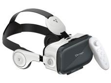Visor de Realidad Virtual Vorago VR-100 con audífonos y botón. Requiere Smartphone