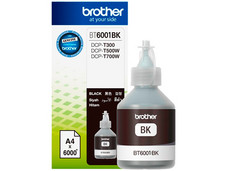 Botella de Tinta Brother, color Negro, Modelo: BT-6001BK, Alto Rendimiento.