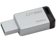 Unidad Flash USB 3.1 Kingston DataTraveler 50 con Elegante y Moderno Diseño de 128GB color Plata.