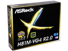 T. Madre ASRock H81M-VG4 R2.0, Chipset Intel H81, Soporta: Core i3 / i5 / i7 / Pentium / Celeron de Socket 1150, Memoria: DDR3 1600/1333 MHz, 16 GB Max, Integrado: Audio HD, Red, SATA 3.0, USB 3.0. Micro-ATX, Ptos: 1xPCIEX16, 1xPCIEX1.