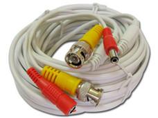 Bobina pre ensamblada siames Provision ISR PR-CA20 de cable coaxial y energía, 20m.