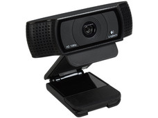 Cámara Web HD Logitech Pro C920, Video Full HD 1080p, Micrófono doble integrado, USB.