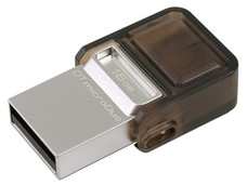 Unidad Flash USB 2.0/microUSB Kingston DataTraveler microDuo OTG de 16 GB.