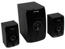 Bocinas 2.1 Vorago300, con lector de memorias, USB y Bluetooth.