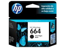 Cartucho de Tinta HP 664 Negro, Modelo: F6V29AL.