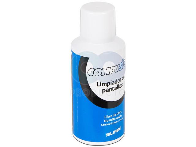 Limpiador de pantallas y protector anti-estático repelente al polvo Silimex, 170ml.